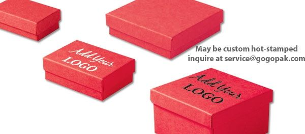 Wholesale Red Kraft Jewellery Boxes Cotton Filled 8 Sizes