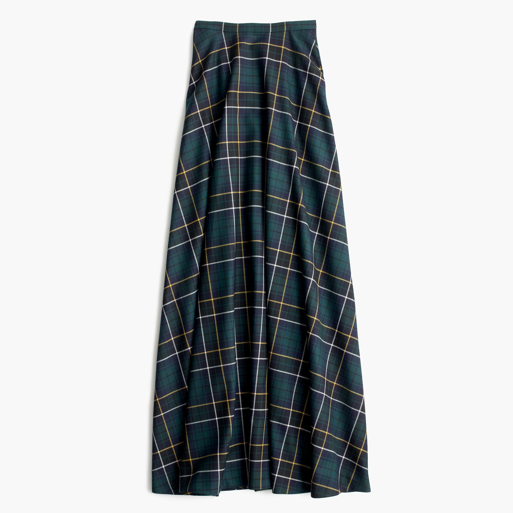 J.Crew - Collection maxi skirt in tartan