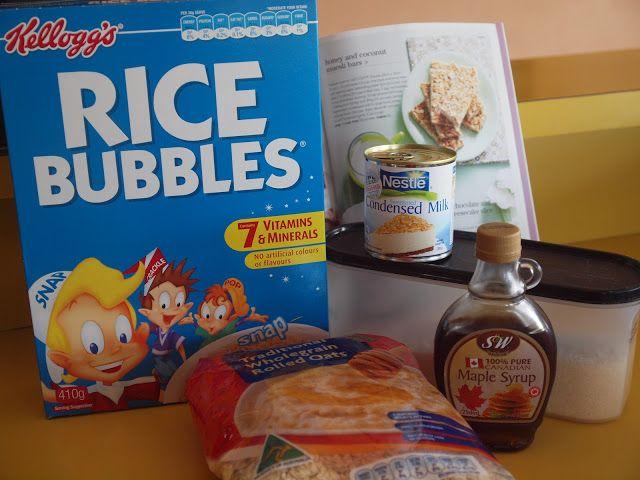 Easiest Muesli Bar Slice Rice Bubbles Muesli Bars Rice Bubbles Recipes Kids
