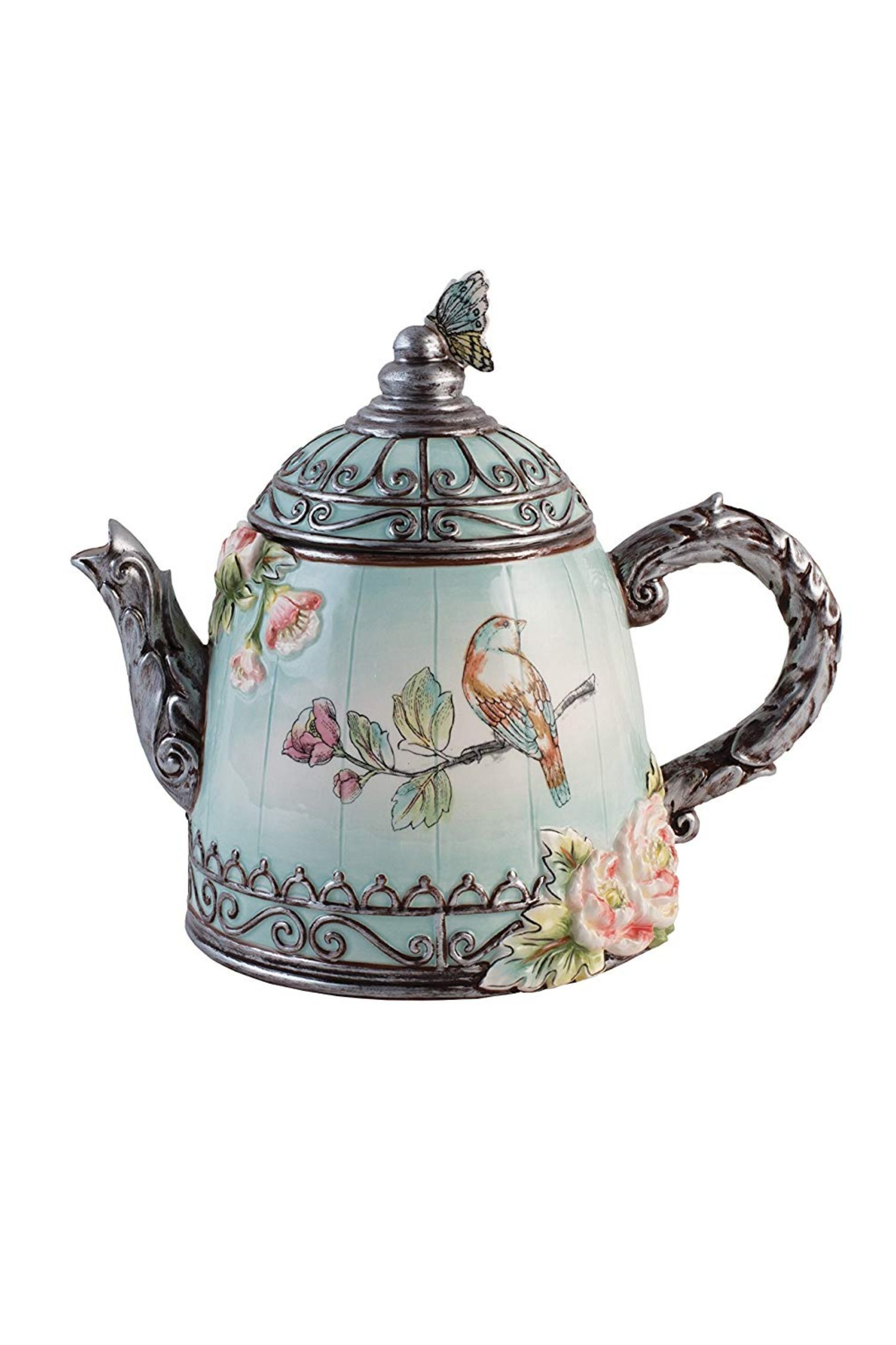Fitz And Floyd English Garden Teapot Tea Pots Tea Pots Vintage Fitz And Floyd