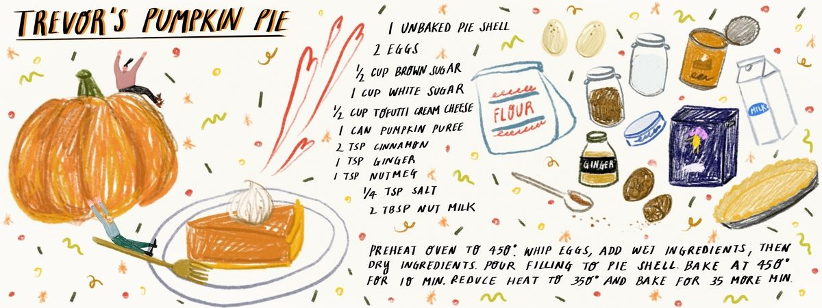Trevors Pumpkin Pie Pumpkin Pie Pumpkin Food Illustrations