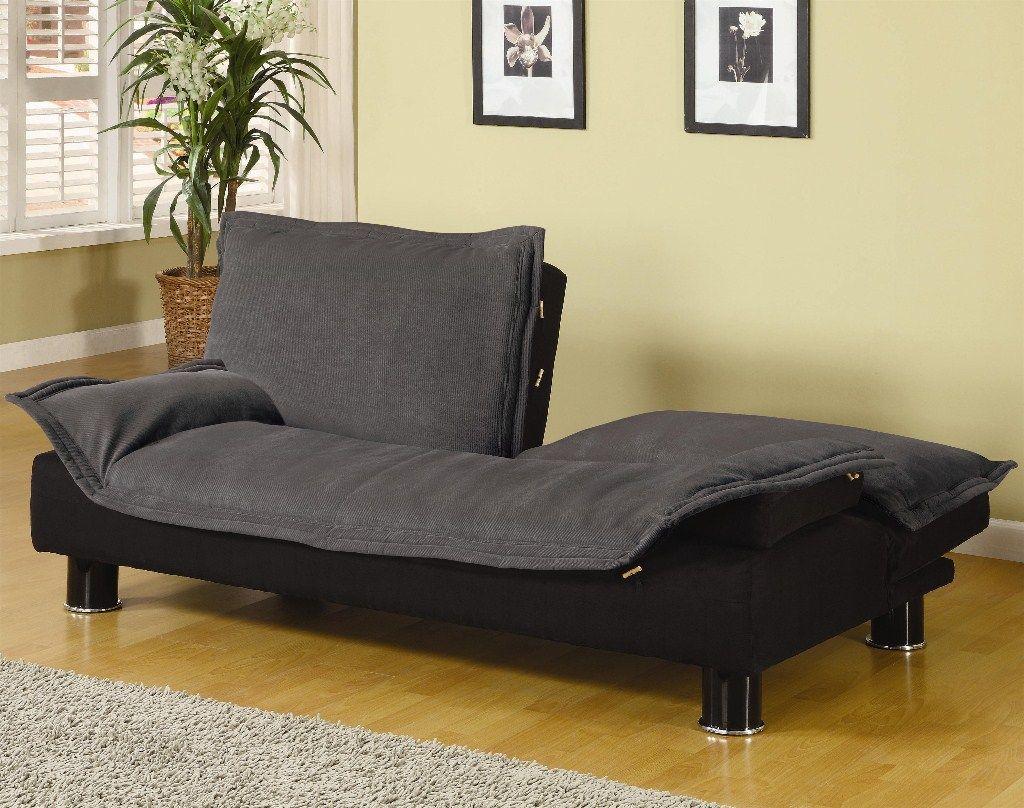 Coaster Elegant Grey Microfiber Futon Sofa Bed Couch Sleeper By Furniture