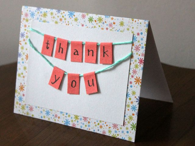 Handmade Thank You Card Diy How To Tutorial With Images Thank