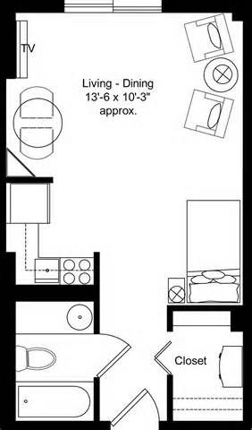 Studio Apartment Floor Plans senior studio apartment design ideas | apartment floor plans