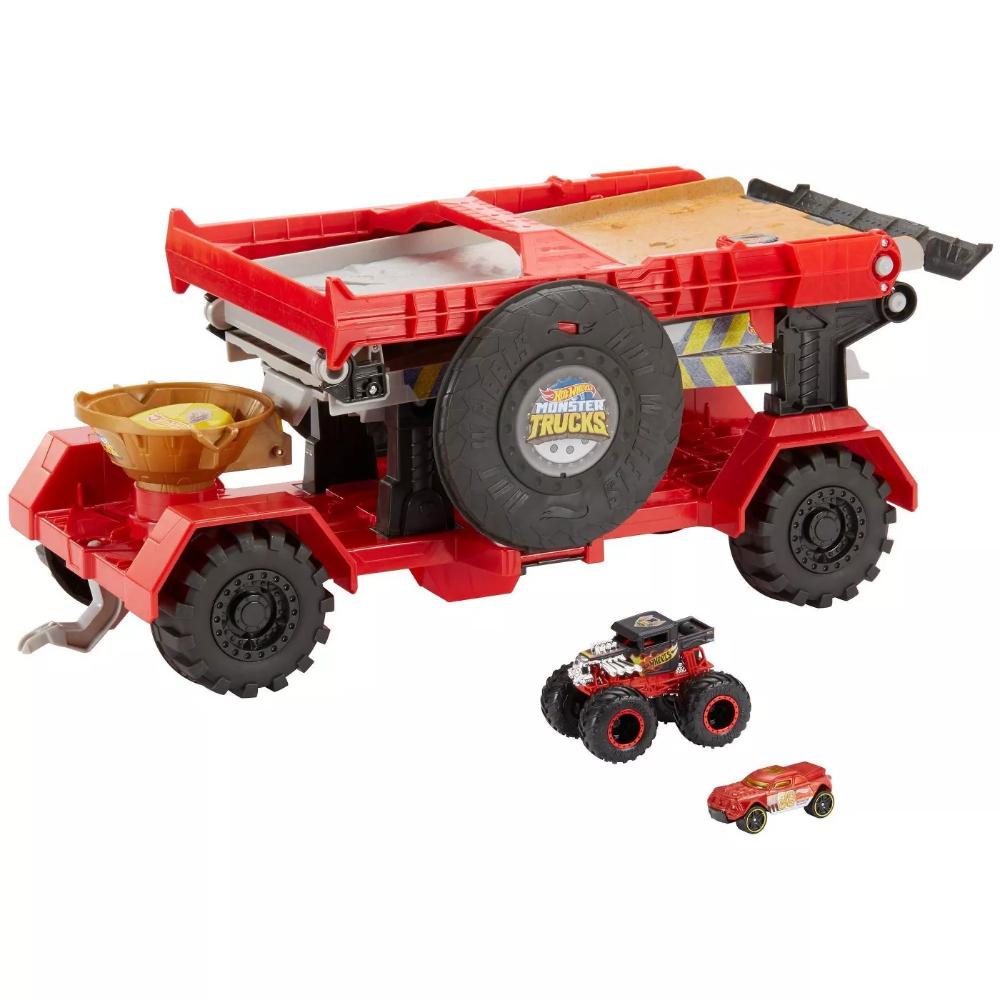 Hot Wheels Monster Trucks Downhill Race Go Playset Monster Trucks Monster Truck Toys Hot Wheels
