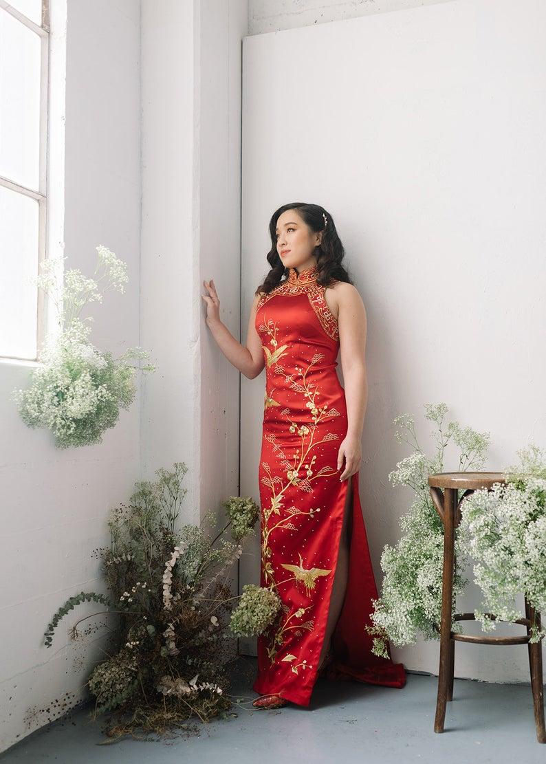 Cheongsam Brautkleid Chinesische Hochzeitskleid  Etsy in 12