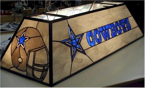 Tiffany Style Pool Table Light Dallas Cowboys Decor Pool Table