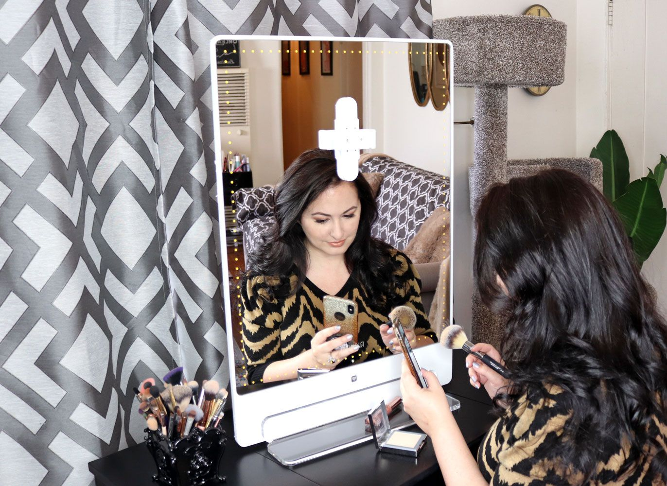 Glamcor Riki Skinny Vs Riki Tall Lighted Selfie Mirrors Review Riki Mirror Beauty Tutorials Videos Makeup Mirror