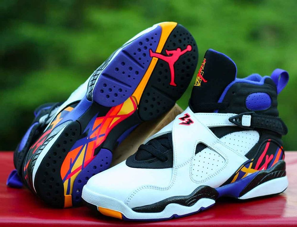 new style 99b50 75d2f Nike Air Jordan 8 VIII Retro BG Three Peat Size 6.5Y White Concord  305368-142  Jordan  BasketballShoes