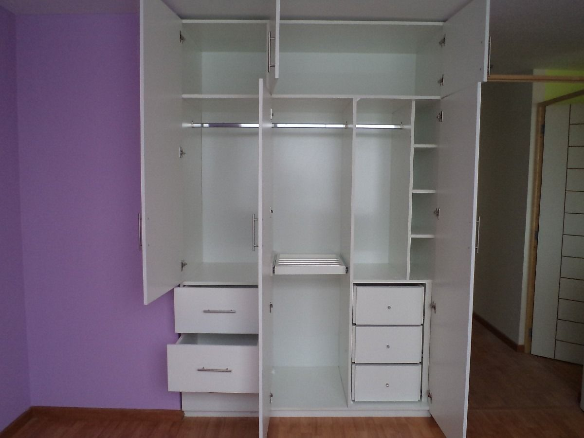 Muebles De Melamina Closet Para Dormitorio En Melamina Blanca  # Muebles Wardrobe