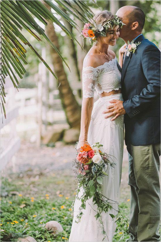 Tropical Boho Chic Hawaiian Wedding Hawaiian Wedding Tropical Wedding Dresses Boho Chic Wedding