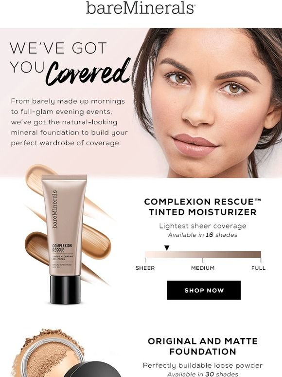 Build Your Foundation Wardrobe Bare Escentuals Bare Escentuals Foundation Mineral Foundation