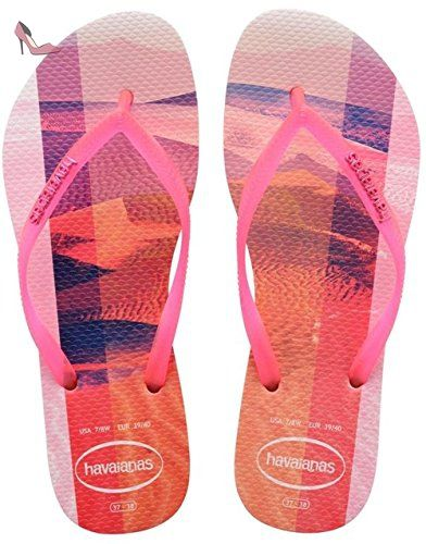 Kids Slim Princess, Tongs pour Fille - Rose - Crystal Rose, 35/36 EU (33/34 Brazilian)Havaianas