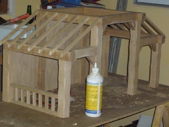 Fabrication d'une crèche en bois (6)