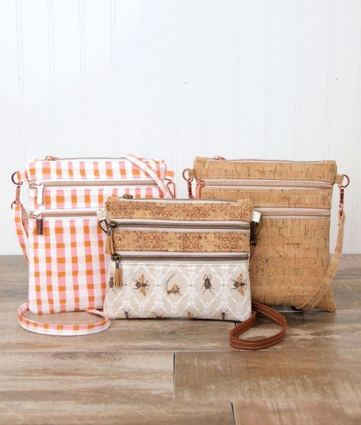Cork Fabric Crossbody Bag Pattern These Pretty And