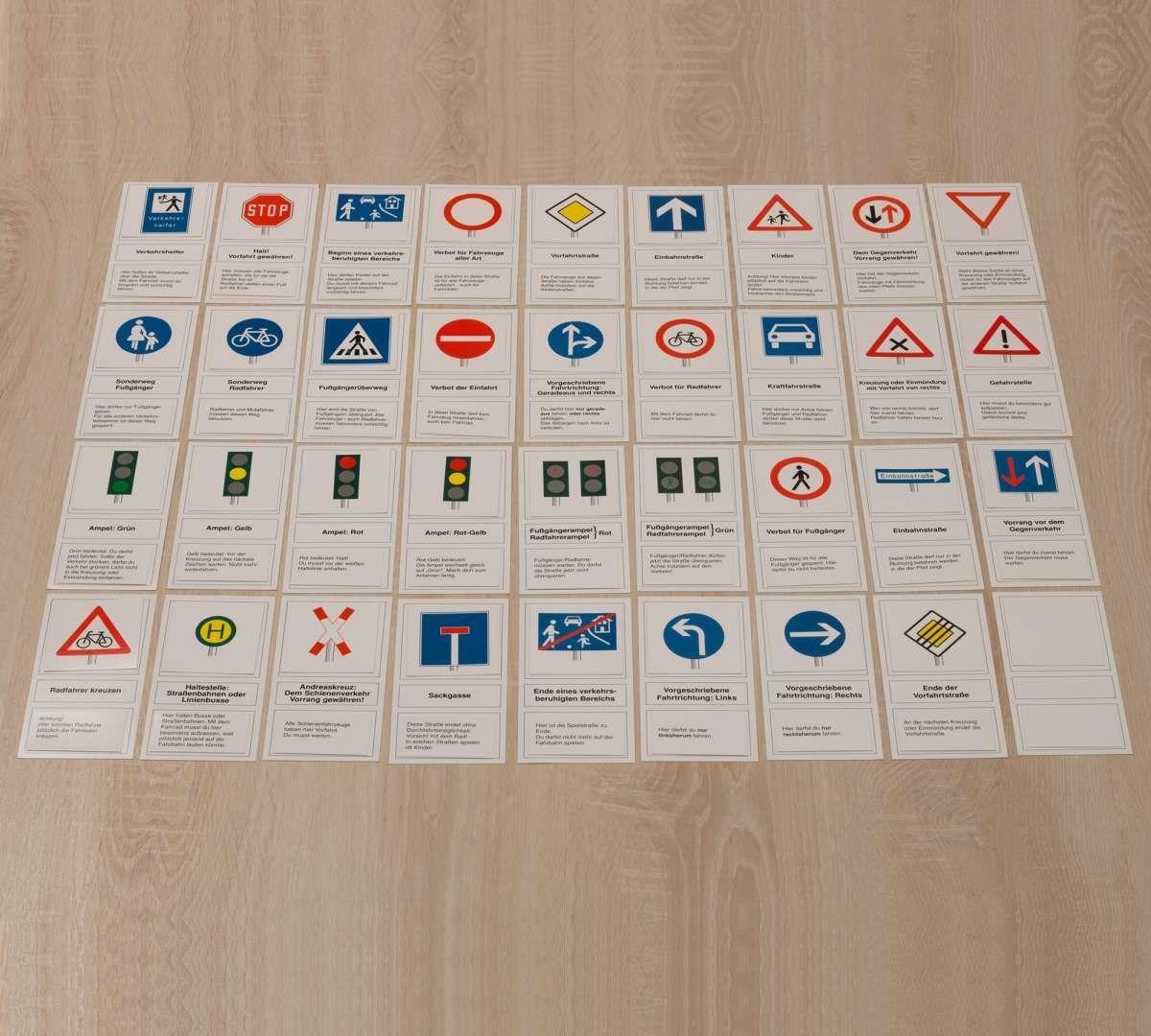 Verkehrszeichen Vorliegende Teilnehmen Unbedingt Radfahrer