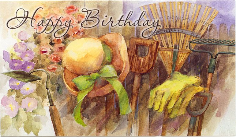 Birthday Wishes For A Gardener Birthday Greeting Cards Happy
