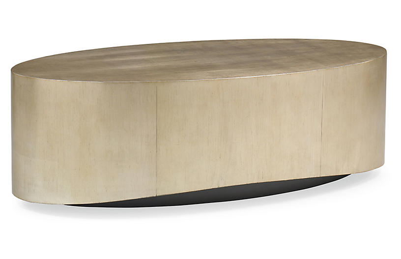 Whalton Coffee Table Silver Gold Leaf Caracole Table Modern
