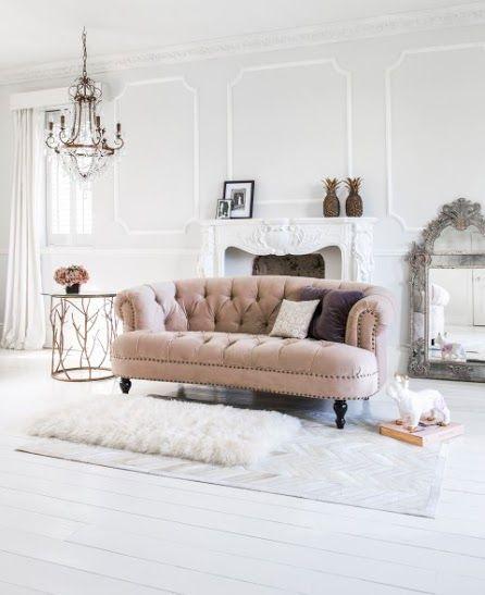 Chablis Roses Mink Velvet Sofa Home Sweet Home Chesterfield