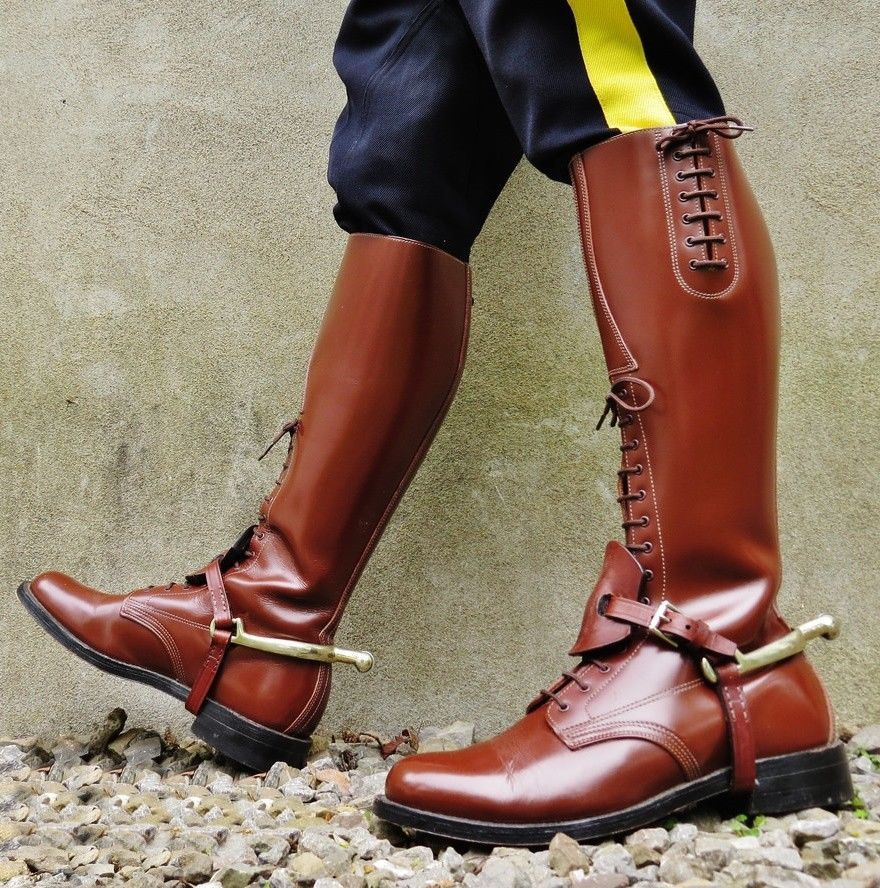 e8d3fa3d353 Details about Men Motorcycle Tall Mounted Police Biker LEATHER Boot ...