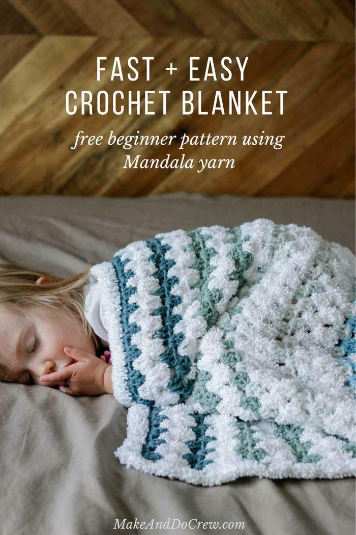 Tributary Free Beginner Crochet Baby Blanket Pattern Knitting