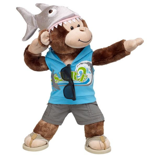 ee58b66b63ba Surfer Cheerful Monkey is ready to hit the waves at Build-a-Bear ...