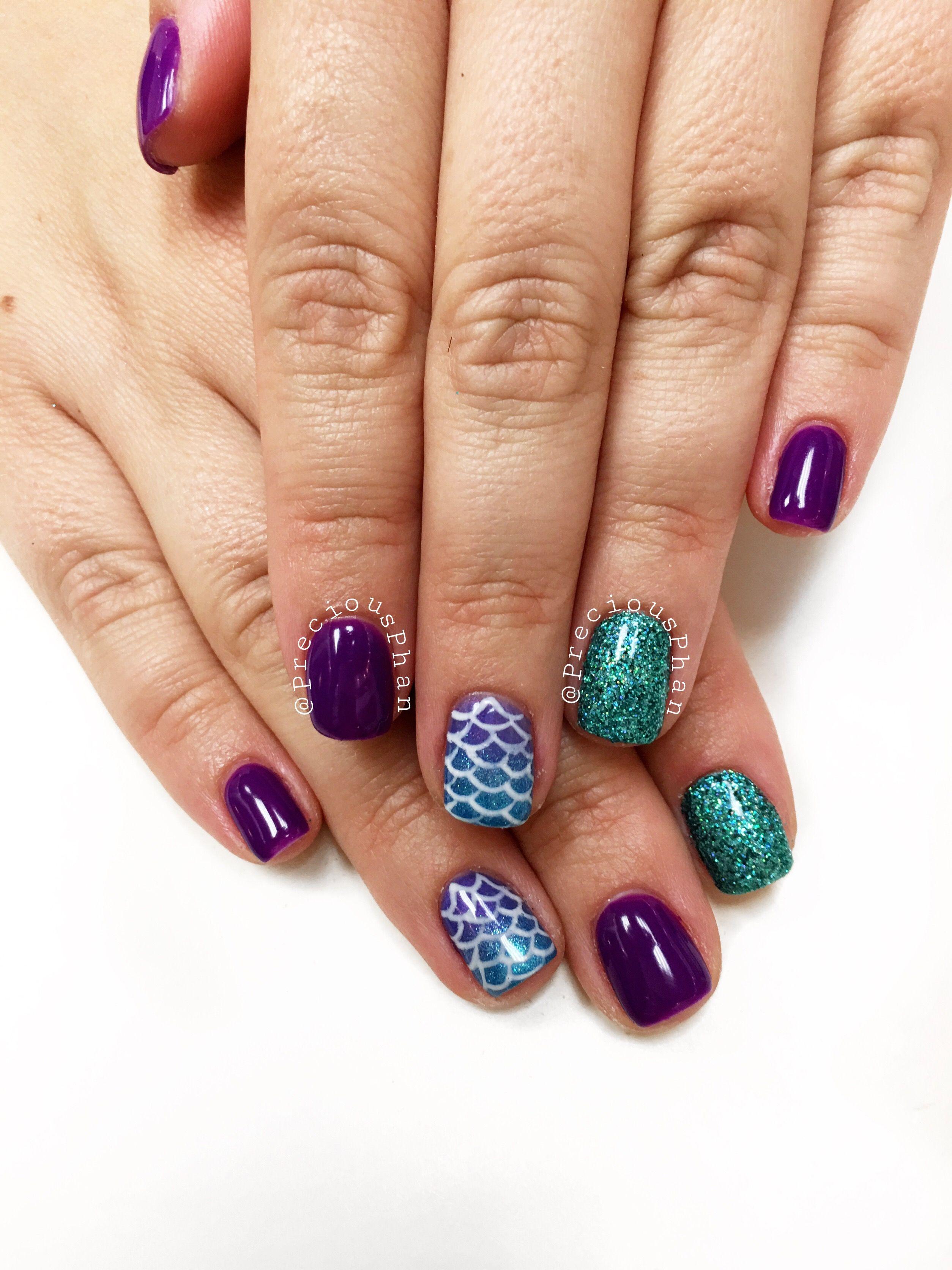 Mermaid nails. Glitter nails #PreciousPhan | Nails | Pinterest ...
