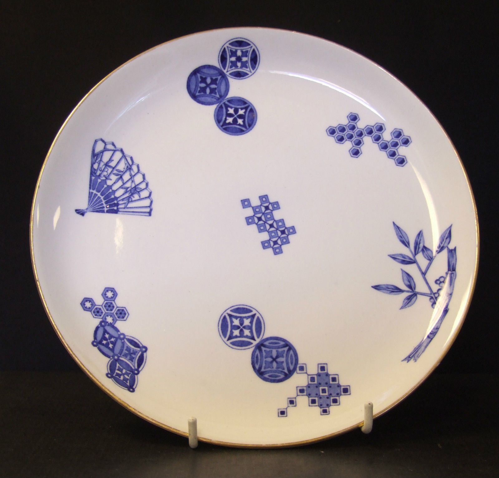 Blue And White Plates royal worcester aesthetic movement blue & white plate c. 1880