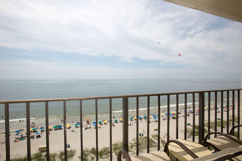 Oceanfront balcony at Carolinian Beach Resort  Myrtle