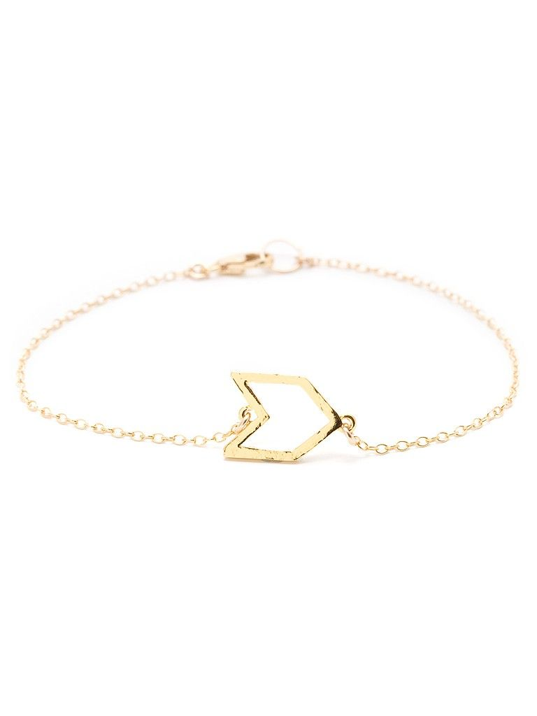 Chevron Charm Bracelet  Did you know that in Native American culture the chevron stripe means change? That makes this delicate charm bracelet an absolute winner in our book, for both its inspirational and oh-so-glam factor.