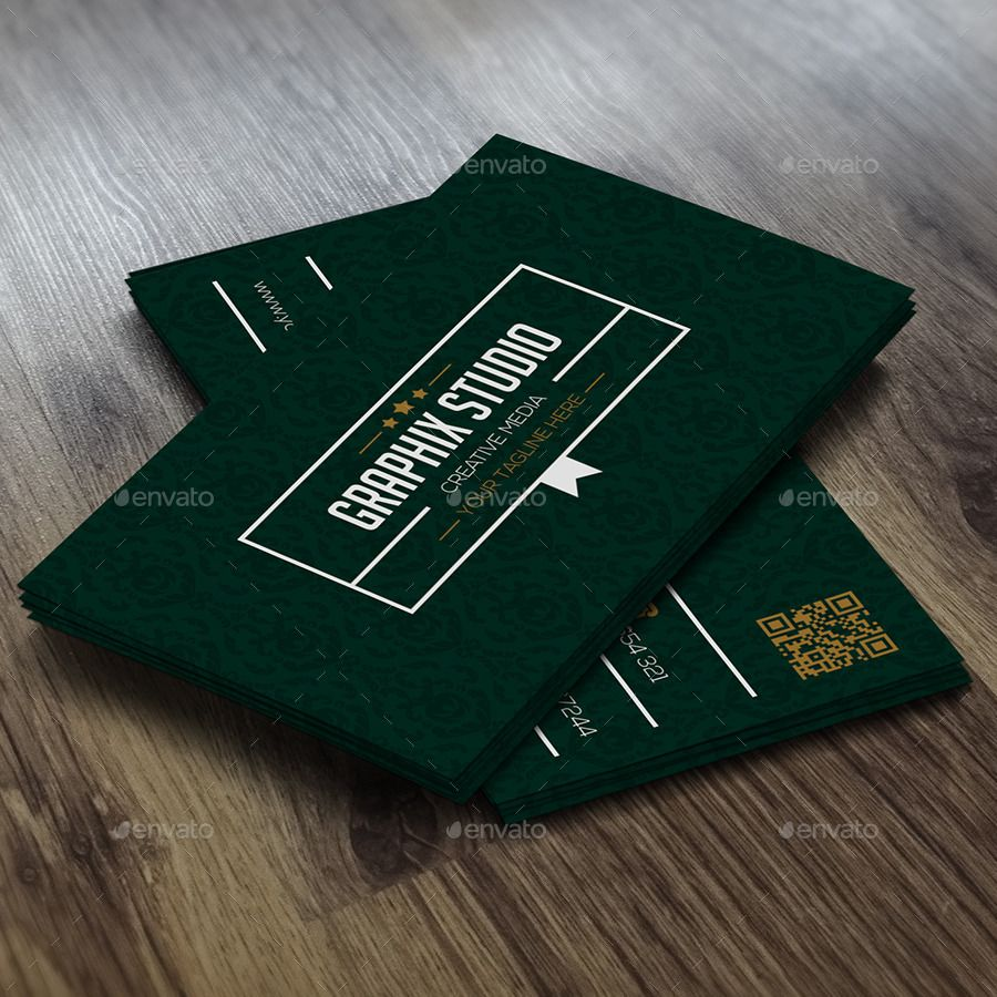 Green Creative Business Card With Images Business Cards