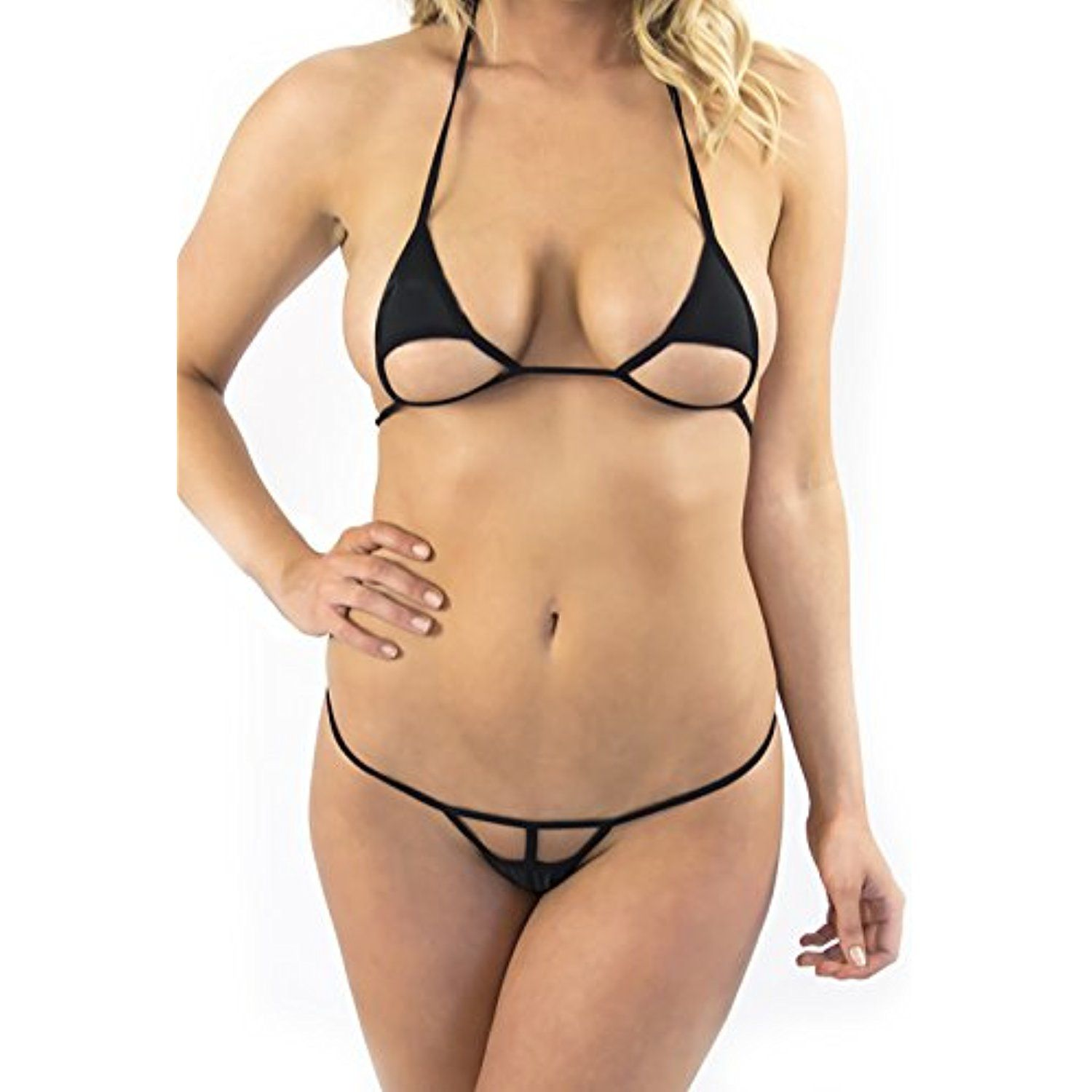 2c7c048d491c Women's Black Extreme Sexy Micro Bikini Swimsuit Thong Bikinis >>> Read  more reviews of the product by visiting the link on the image.