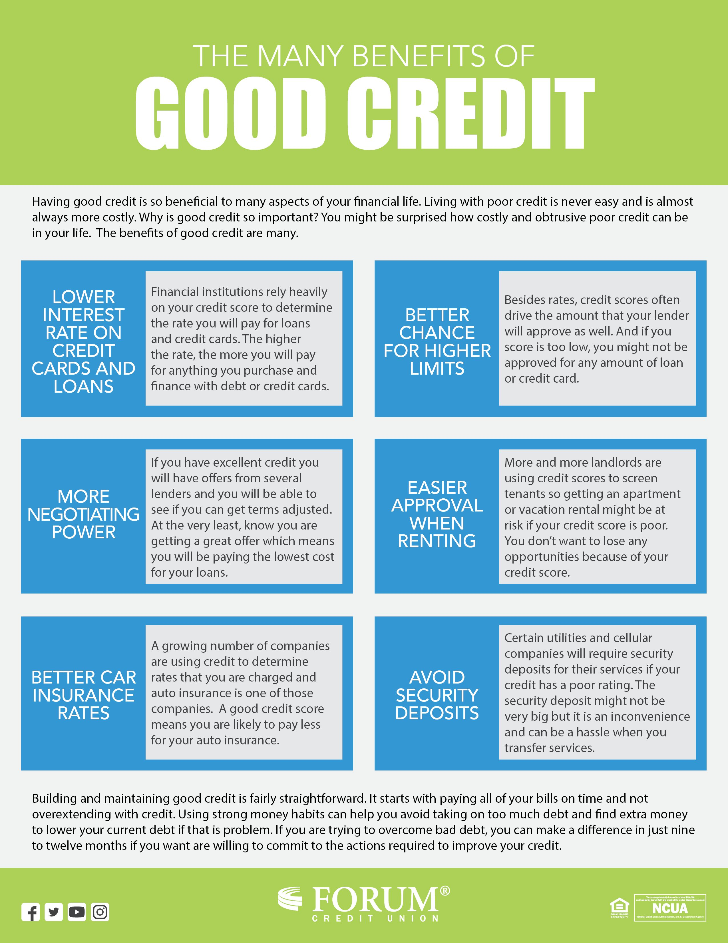 Pin By Forum Credit Union On Tips Advice Good Credit Money