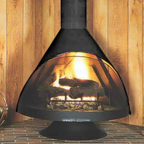 Love This Fireplace They Consider It Retro I Consider It A Darth Vader Head Style Fireplace Perfect For A Ge Standing Fireplace Malm Fireplace Fireplace