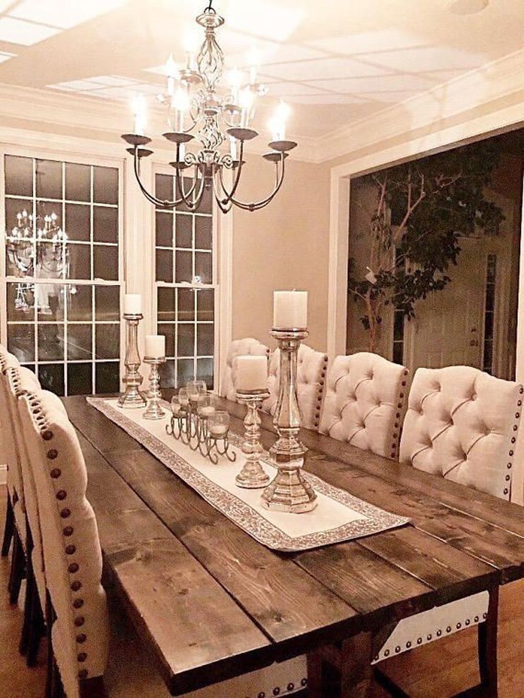 Awesome 49 Cozy Rustic Farmhouse Dining Room Table Ideas More At Https Tren Farm Table Dining Room Farmhouse Dining Rooms Decor Rustic Farmhouse Living Room