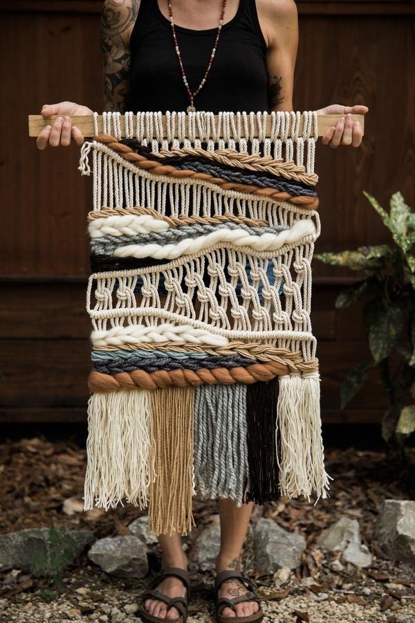 """""""lakeside"""" Macrame Wandbehang """"Lakeside"""" Macrame Wandbehang Brown Things brown color weave"""