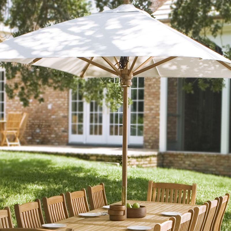 The Rectangular Teak Wood Umbrella Is 118 1 In Long By 78 7 In Wide Standing At 8 Ft 8 In Tall Westminster Teak Teak Outdoor Furniture Rectangular Umbrella
