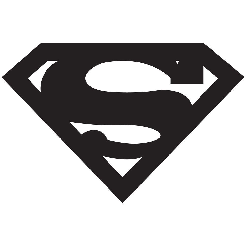 Related Pictures Superman Logo White And Black Superman Black And ...