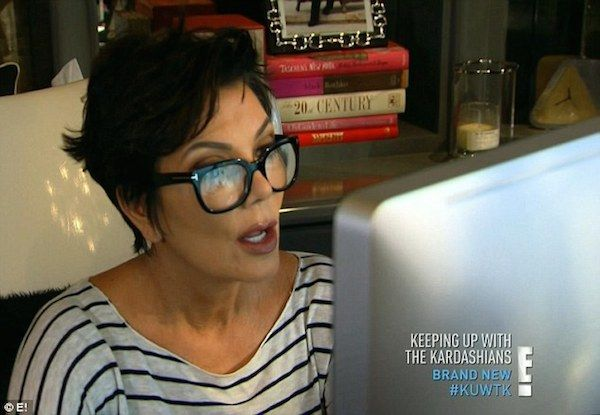 Image result for kris jenner glasses computer gif