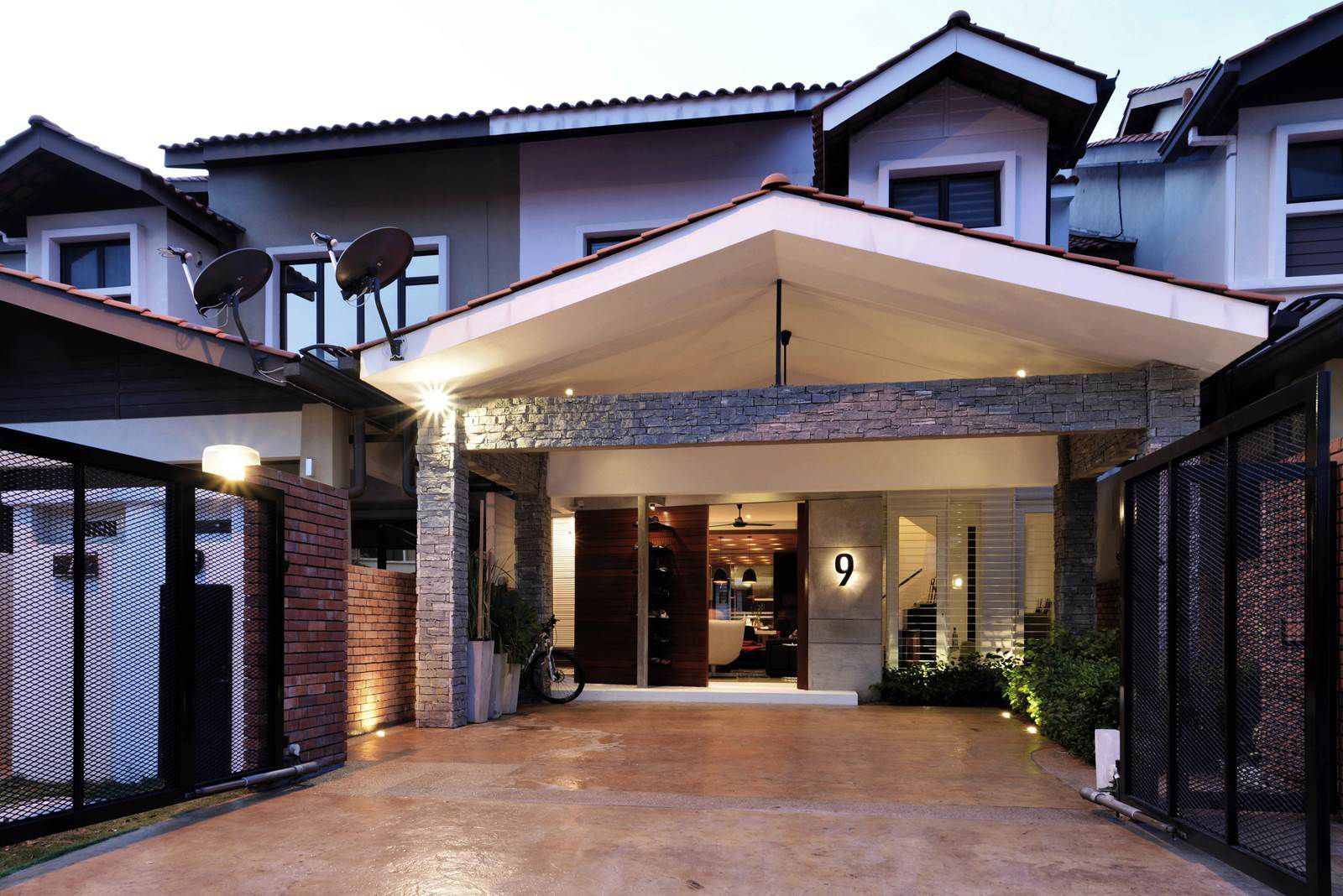 House 9 Alam Impian By Paperspace House Porch Design Terrace House Exterior House Designs Exterior