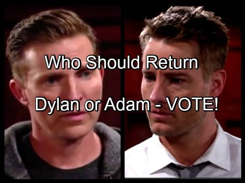 The Young And The Restless Spoilers Adam Newman Or Dylan Mcavoy First Choice To