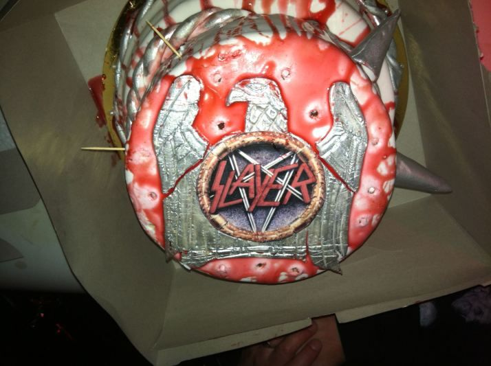 Slayer Birthday Cake Worleygigcom Pinterest Birthday Cakes - Slayer birthday cake