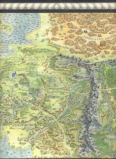 middle earth map by mike lafayette