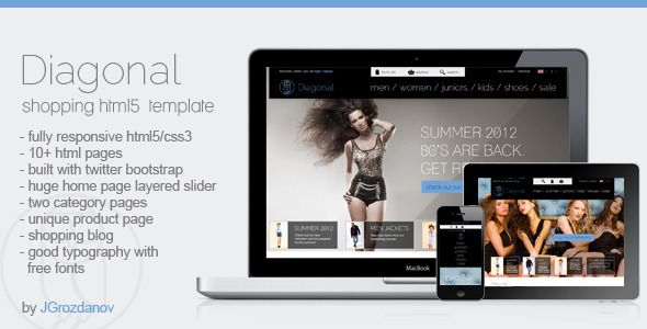 Diagonal - HTML5 Responsive Store Template Template, Typography
