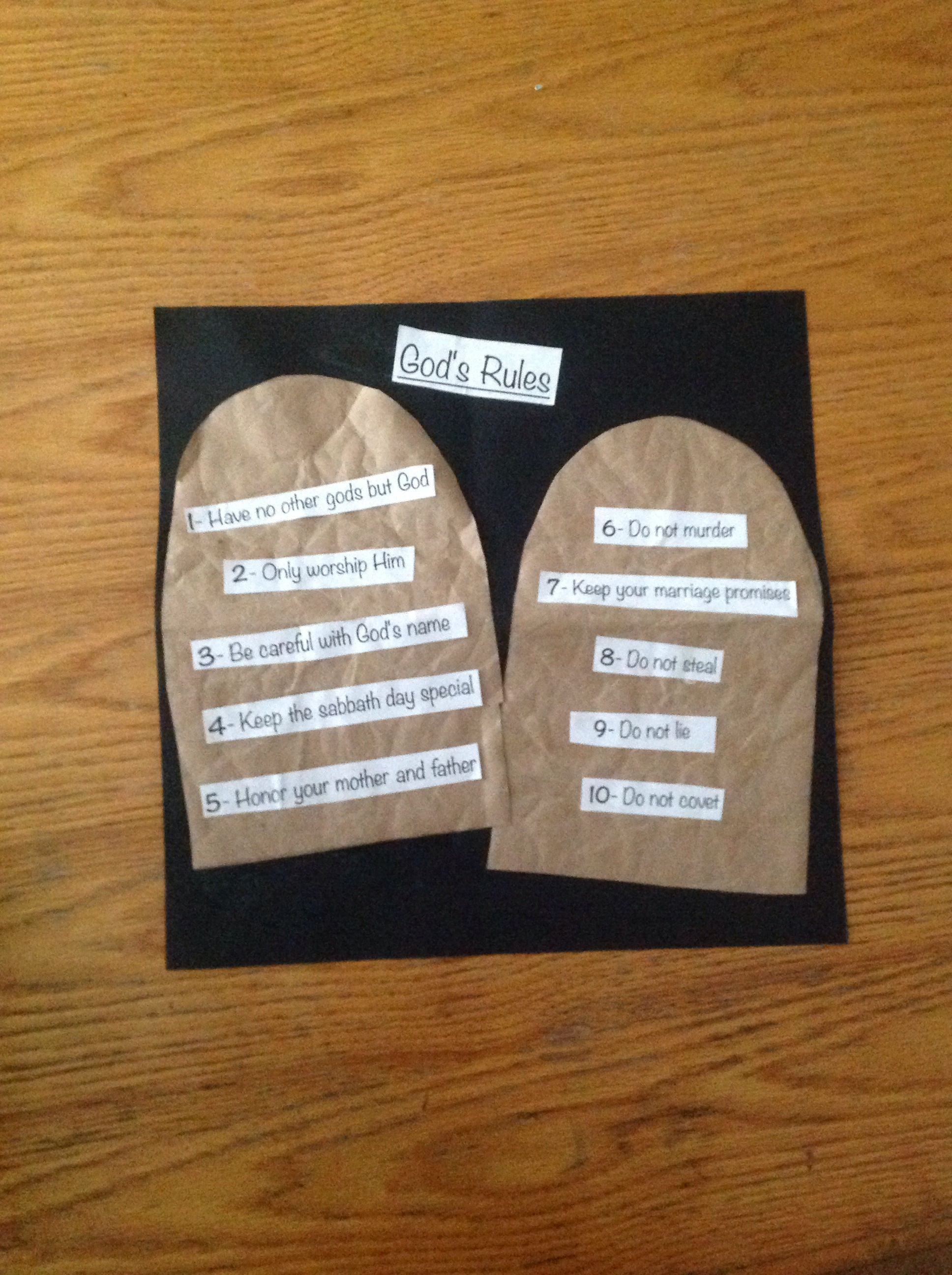 Ten commandments craft bible crafts by let pinterest for Ten commandments crafts for preschoolers