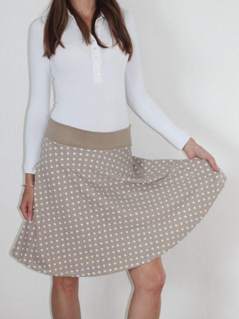 Jersey Tellerrrock schnell und einfach selber nähen #dy #sew #skirt ...