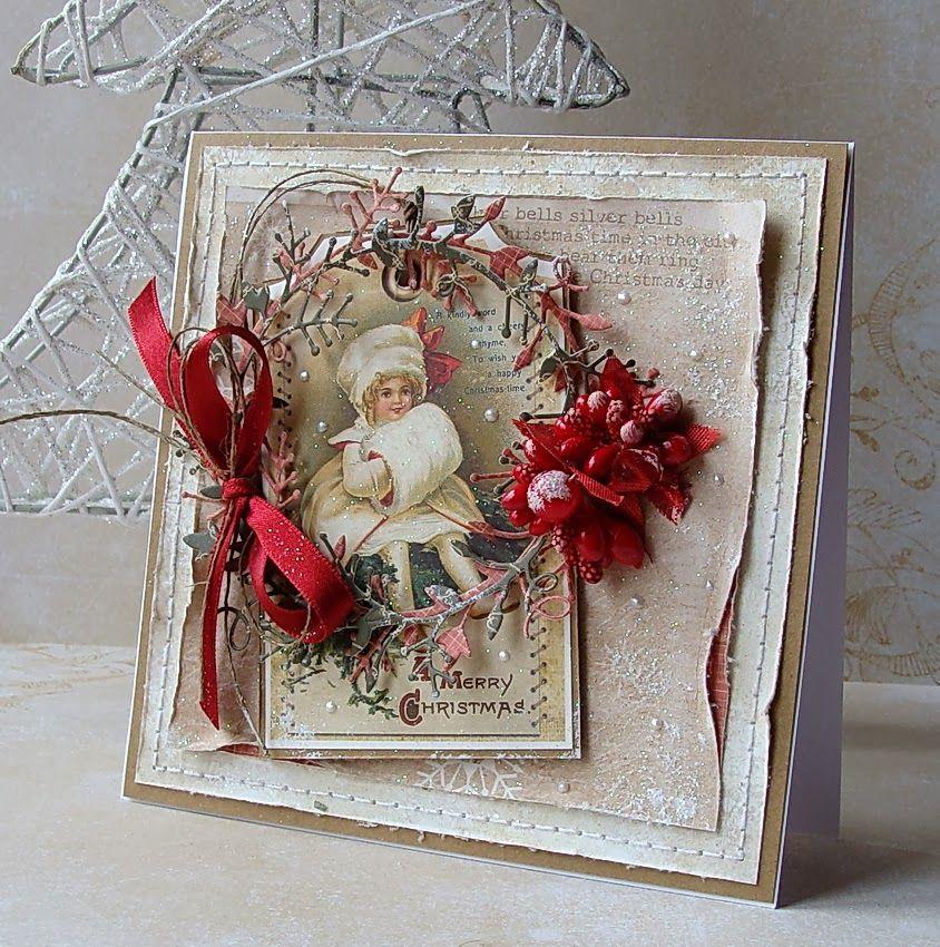 Паука, скрапбукинг открытка рождество