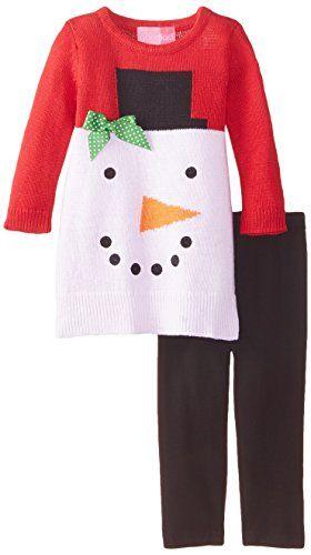 ccc8a515d Good Lad Baby Girls Snowman Sweater Dress Legging Set Red 12 Months ...