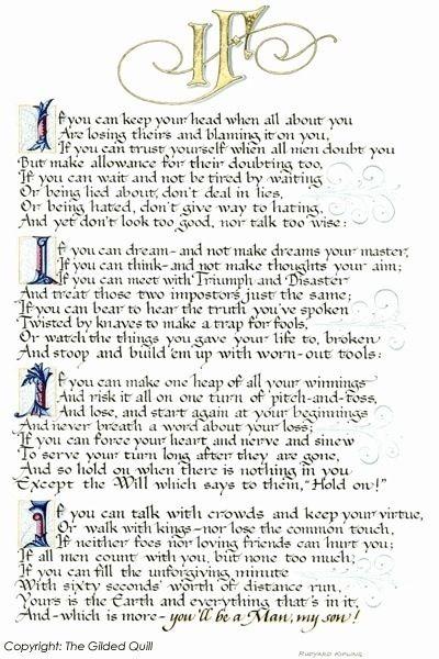 summary of the poem if by rudyard kipling pdf
