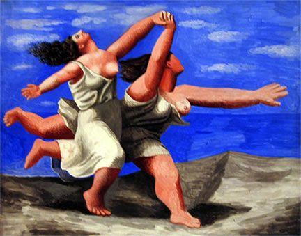 - Pablo Picasso  Mujeres corriendo en la playa